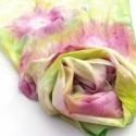 Tavaszi kert pasztell hernyóselyem stóla, Tavaszi kert színű selyem sálam a pasztell szí...