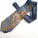 Kovácsoltvas selyem nyakkendő , Férfiaknak, Ruha, divat, cipő, Esküvői ruha, Férfi ruha, RENDELHETŐ! (-nincs készen!)   Elkészítési idő 10 munkanap!  Kovácsoltvas hernyóselyem kézzel festet..., Meska