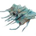 Karib tenger nuno nemez sál, Esküvő, Ruha, divat, cipő, Kendő, sál, sapka, kesztyű, Sál,   Nuno nemezeléssel készítettem finom, puha anyagokból.  S-XL (36-44) méretben elöl összeköthető a k..., Meska