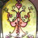 Madaras  Angyal selyem ablakkép, Varázskép sorozatom darabjai közül egy a Madar...