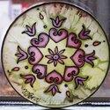 Mandala selyem ablakkép, Varázskép sorozatom darabjai közül egy a Manda...