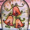 Táncoló harangok ablakkép 2., Varázskép sorozatom darabjai közül egy harang ...