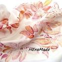 Orchideák selyem sál (Hera) - Meska.hu