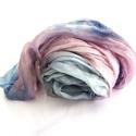 Pasztell kék rózsaszín sál, Ruha, divat, cipő, Kendő, sál, sapka, kesztyű, Sál, Öv, Színterápia borúsabb napokra. Ez a sálam a pasztell kék és rózsaszín izgalmas kombináció méltó képvi..., Meska