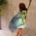 Virágos ombre nuno nemezelt stóla , Ruha, divat, cipő, Női ruha, Estélyi ruha, Ballagás,  Hernyóselyem mousseline 3.5  anyagra kézzel, színátmenetesre festett stóla aminek a közepére..., Meska