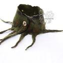 Nemezelt nyakmelegítő rojtokkal zöld,  Nyakmelegítő sálamat nemezelés technikával k...