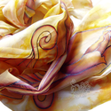 Tulipános selyem stóla , Ruha, divat, cipő, Anyák napja, Ballagás, Női ruha, Tulipános, saját tervezésű, zsűriztetett mintámmal kontúrozott technikával festettem ezt a s..., Meska