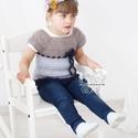 Gyapjú kislány mellény empire stílusban kékben, Gyerek & játék, Táska, Divat & Szépség, Gyerekruha, Ruha, divat, Gyerek (1-10 év), 18-24 hónapos kislányra való mellény horgolt tunika mellény kötött csipke díszítéssel. Empire stílus..., Meska