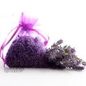Levendula virág organza zsákban, Dekoráció, Dísz, Vegyszermentes, tihanyi levendulavirág lila organza zsákban  Méret: 7 x 9 cm, Meska