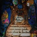 Léleksegítő Tündérház - Alexia Holdtündér háza fából, kivehető tündérkével:-), Baba-mama-gyerek, Játék, Baba-mama kellék, Fajáték, Famegmunkálás, Festett tárgyak, Holdtündér háza  - A nyugodt éjszakákért:-) Sötétségtől való félelem, szorongás(anyáról való leválá..., Meska