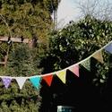 I LOVE COLOURS. Zászlófüzér, Baba-mama-gyerek, Dekoráció, Esküvő, Otthon, lakberendezés, Varrás, Vidám 1,75 méter hosszú bunting, mely 11 db színes zászlóból áll.   Élénk színek, de sajnos a fényk..., Meska
