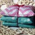 STRAWBERRY AND MINT. Levendula zsákocskák. , Dekoráció, Szépségápolás, Otthon, lakberendezés, 3 darab eper/mentha színű vászonból készült zsákocska, mely ideális ajándék lehet anyák n..., Meska