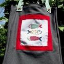 I LOVE COLOURS. Boho fish. Shopper., Táska, Válltáska, oldaltáska, Tarisznya, Szatyor, Színes, keresztszemes hímzéssel készült halak díszítik ezt a szövetből készült bevásárló szatyrot;  ..., Meska