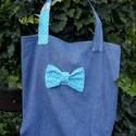 The Blue Ribbon. Farmer szaladgálós., Táska, Szatyor, Válltáska, oldaltáska, Tarisznya, Nőies, vagány shopper/szaladgálós.  Nagyon dekoratív darab.  Béleletlen, hátoldalán zseb található a..., Meska
