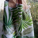 LEAFY. Szaladgálós/shopper természetbarátoknak., Bútorszövet vastagságú vászonból készült  ...
