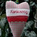 Christmas. Szív alakú függődísz ajtóra/ablakra, Kedves ünnepváró ajándék lehet.  Szilikonos P...