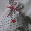 THE SILVER STARS. Ünnepi ajándékátadó zsák., Dekoráció, Baba-mama-gyerek, Karácsonyi, adventi apróságok, Varrás, Egyedi ajándék - átadó zsákocska;   beleférnek a Mikulásra/karácsonyra szánt csokik,apróbb ajándéko..., Meska