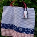 FUSION 29. -----  Tengerész shopper., Különféle  ingek-nadrágok-minták kombináció...
