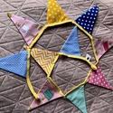 CAKES. Zászlófüzér/girland cukrászmestereknek., Részben amerikai designer textilekből készült,...