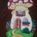 MAGASSÁGMÉRŐ Gomba, Baba-mama-gyerek, Dekoráció, Otthon, lakberendezés, Baba-mama kellék, Festészet, Famegmunkálás, Hermaresz dekor   Mesefigurás fali magasságmérő egyedi készítésű!   Fa alapanyagból készült egyedi ..., Meska