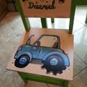 Gyerek szék, Bútor, Baba-mama-gyerek, Asztal, Gyerekszoba, Famegmunkálás, Festészet,  szék  Az aukció tárgya  1 db szék Fenyő alapanyagból készült egyedi festéssel .   Erős masszív idő..., Meska