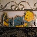 Fali kulcstartó tábla fogas, Dekoráció, Bútor, Ékszer, óra, Konyhafelszerelés, Festett tárgyak, Famegmunkálás, Hermaresz dekor  Fenyő kulcstartó tábla  akasztóval.  rendelhető más motívummal egyedi felirattal i..., Meska
