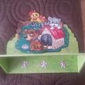 FENYŐ FALIPOLC KÖNYVESPOLC , Baba-mama-gyerek, Otthon, lakberendezés, Gyerekszoba, Gyerekbútor, Famegmunkálás, Festett tárgyak, Fenyőfa fali könyvespolc   Hermaresz dekor   Fenyőfából készült kézzel festett falipolc   Szép egys..., Meska