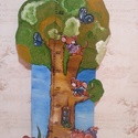 MAGASSÁGMÉRŐ, Gyerek & játék, Otthon & lakás, Dekoráció, Baba-mama kellék, Lakberendezés, Festészet, Famegmunkálás, Hermaresz dekor   Mesefigurás fali magasságmérő egyedi készítésű!   Fa alapanyagból készült egyedi ..., Meska