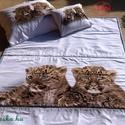 Gyerek ágytakaró garnitúra párnahuzatokkal , Otthon, lakberendezés, Lakástextil, Takaró, ágytakaró, Ágynemű, Varrás,  Fehér - drapp színekkel, gyerek ágytakaró, vagy paplan párnahuzatokkal.  2 az 1-ben ágytakaró!  So..., Meska