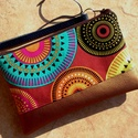 Desigual - bronz mintás tolltartó/neszi , Desigual stílusú mintás designer textillel, és...
