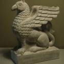 Griff szobor, könyvtámasz, Dekoráció, Képzőművészet, Dísz, Szobrászat, A Griff legendás mitológiai állat, a sas (égi) és az oroszlán (földi) keveréke, az isteni és az emb..., Meska