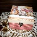 Mackós doboz, Baba-mama-gyerek, Karácsonyi, adventi apróságok, Otthon, lakberendezés, Tárolóeszköz, Akár Mikulás napra, akár más alkalomra, lepd meg ezzel a dobozzal barátaidat és pakold tele csokival..., Meska