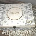 Nászajándék / Lánybúcsú / Esküvői doboz, Esküvő, Otthon, lakberendezés, Esküvői dekoráció, Tárolóeszköz, Esküvői ajándékátadó nagyobb méretű doboz, belül 12 rekesszel. Megtöltheted tréfás akándékokkal és m..., Meska