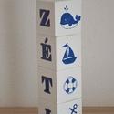 Neves, egyedi feliratos dekorkocka, Baba-mama-gyerek, Dekoráció, Esküvő, Dísz, A HeyBaby dekorkockák tömör fenyőből készülnek, méretük 7*7*7 cm. A kockákat alapozás után 2 réteg a..., Meska