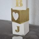 Monogramos dekorkocka, Baba-mama-gyerek, Dekoráció, Esküvő, Dísz, A HeyBaby dekorkockák tömör fenyőből készülnek, méretük 7*7*7 cm. A kockákat alapozás után 2 réteg a..., Meska