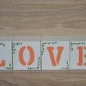LOVE feliratos dekorkocka, Dekoráció, Esküvő, Dísz, Esküvői dekoráció, A HeyBaby dekorkockák tömör fenyőből készülnek, méretük 7*7*7 cm. A kockákat alapozás után 2 réteg a..., Meska