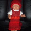 Baby Born babához ruha 17, Játék, Baba, babaház, Varrás, Kötés, Ruha Baby Born vagy más 43 cm-es babára. 3 db-os garnitúra: kötényruha, póló,sapka. A baba csak ill..., Meska
