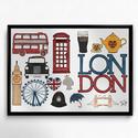 Lakásdekoráció kép, kerettel: Londoni élmények, Dekoráció, Otthon, lakberendezés, Falikép, Mindenmás, Fotó, grafika, rajz, illusztráció, Kézzel rajzolt Londoni élmény című képem.  Professzionális, magas minőségű papírra nyomtatva, válas..., Meska