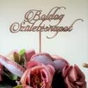 Boldog születésnapot feliratú tortabeszúró, Otthon & Lakás, Sütidísz, Konyhafelszerelés, Famegmunkálás, Festett tárgyak, Gyönyörű, dekoratív betűkkel készült, lézervágott torta- és csokorbeszúró. 4 mm vastag rétegelt lem..., Meska
