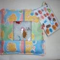 Kincskereső zsák Virág részére, Két rétegű textil zsák, megtöltve műanyag gr...