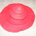Nôi kalap, Ruha, divat, cipő, Merinó gyapjúból nemezelt női kalap, széles karimával. Elegáns fejfedő bármilyen ruházatho..., Meska