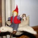 Nemezelt Nils, Játék, Játékfigura, Gyapjúból keszült Nils, pocok és Márton trió. Hasznos játék a Nils csodálatos utazásait sz..., Meska
