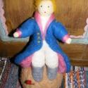 Nemezelt kis herceg, Játék, Játékfigura, Nemezelés, Antoine de Saint-Exupéry kis hercege nemezelve, kicsiknek és nagyoknak.  Méretei: 20x8x8 cm., Meska