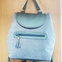 szürke hátizsák, Táska, Válltáska, oldaltáska, Ezt a táskát kellemes tapintású bútorszövet és textilbőr kombinálásával készítettem, pa..., Meska