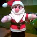 Horgolt mkulásfigura, Karácsonyi, adventi apróságok, Karácsonyi dekoráció, Horgolt figura.Magassága kb.33cm., Meska