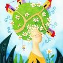 Vidéki lány - művészi nyomat, Képzőművészet, Festmény, Akvarell, Illusztráció, Festészet, Kispéldányszámú művészi nyomat (20), aláírt, számozott, az eredeti akvarell festményről. Mérete 21x..., Meska