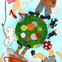Séta a parkban -  művészi nyomat /2016, Képzőművészet, Festmény, Akvarell, Illusztráció, Kis példányszámú művészi nyomat (30), aláírt, számozott, az eredeti akvarell festményről. Mérete 21x..., Meska
