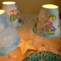 Nyomtatható lámpabúra karácsonyi manókkal., Dekoráció, Ünnepi dekoráció, Karácsonyi, adventi apróságok, Karácsonyi manós lámpabúrák. A csomag 3 db különböző mintájút tartalmaz, két manósat és egy hópelyhe..., Meska