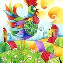 Jó reggelt - A3-as méretű nyomat, Képzőművészet, Festmény, Akvarell, A3-as (29,7 x 42 cm) művészi nyomat, szignózva. 300 g -os műnyomó papíron Két A3-as vastag karton kö..., Meska