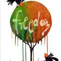 Freedom - A3-as méretű nyomat, Képzőművészet, Festmény, Akvarell, A3-as (29,7 x 42 cm) művészi nyomat, szignózva. 300 g -os műnyomó papíron Két A3-as vastag karton kö..., Meska